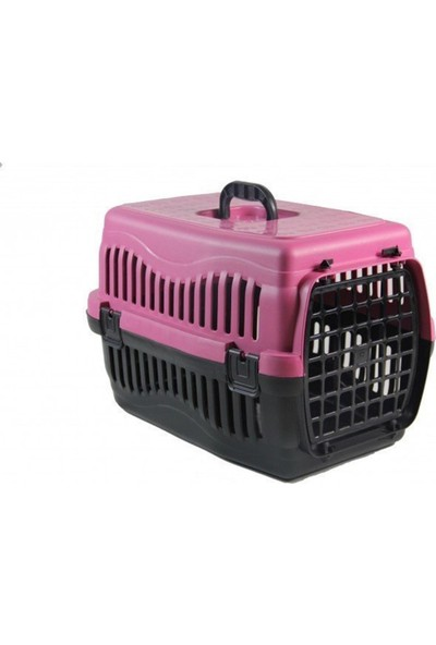 Pet Style Kedi ve Köpek Plastik Taşima Çantasi Küçük Boy 49.5 cm Pembe