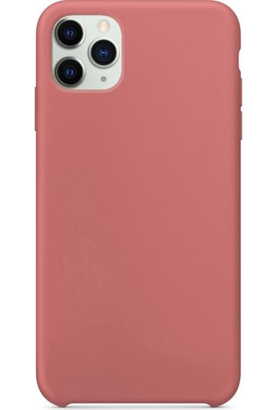 Logis Apple iPhone 11 Pro Max Kılıf Liquid Lansman Silikon Gül Kurusu