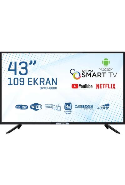 """Onvo OV43-8000 43"""" 109 Ekran Uydu Alıcılı Full Hd Smart LED Tv"""