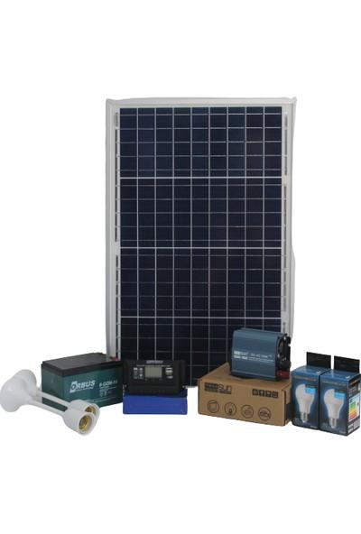İsos Güneş Paneli 40 W + Solar Aydınlatma 240 W + Şarj 220 V
