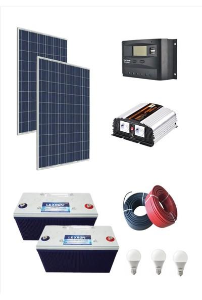 İsos Güneş Paneli 560 W + Güneş Enerjili Buzdolabı Tv + Aydınlatma Paketi 2400 W