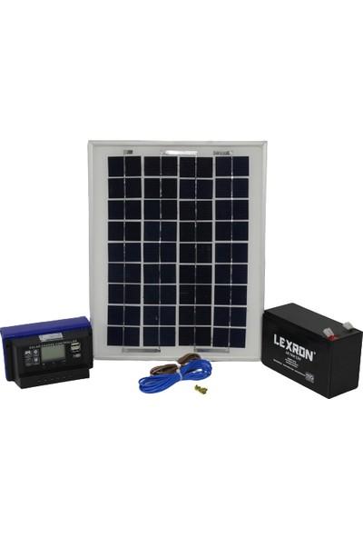 İsos Güneş Paneli 10 W + Solar Aydınlatma + Telefon Şarj Sistemi