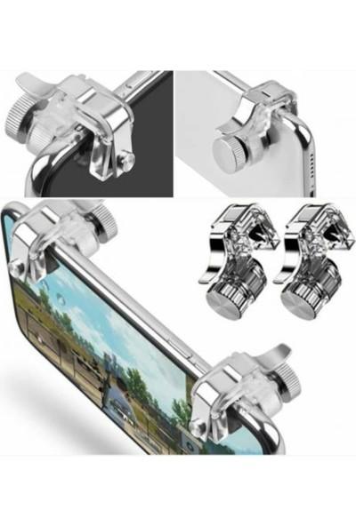 iBOVİA R11 Pubg Telefonlar Için Çift Oyunn Adaptörü Ateş Tetik Düğmesi