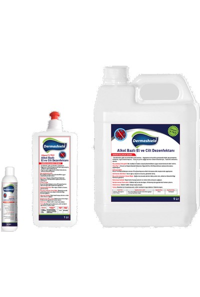 Dermashield El ve Vücut Antibakteriyel Dezenfektan 500 ml