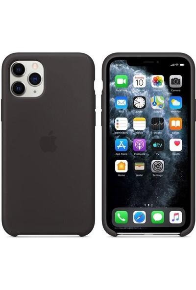 Rosstech Apple iPhone 11 Lansman Silikon Kılıf Siyah + Ekran Koruyucu