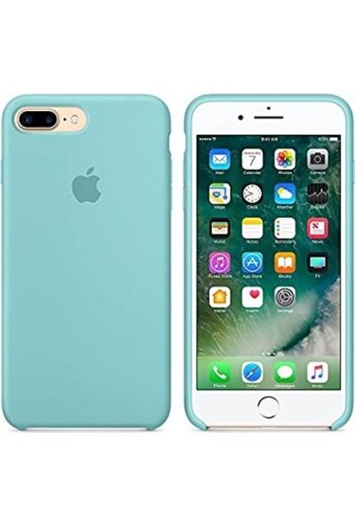 Rosstech Apple iPhone 7/8 Lansman Silikon Kılıf Deniz Mavisi + Ekran Koruyucu