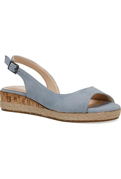 Nine West Huey Mavi Kadın Dolgu Topuklu Sandalet