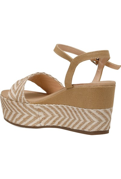 Nine West Norma Haki Kadın Dolgu Topuklu Sandalet