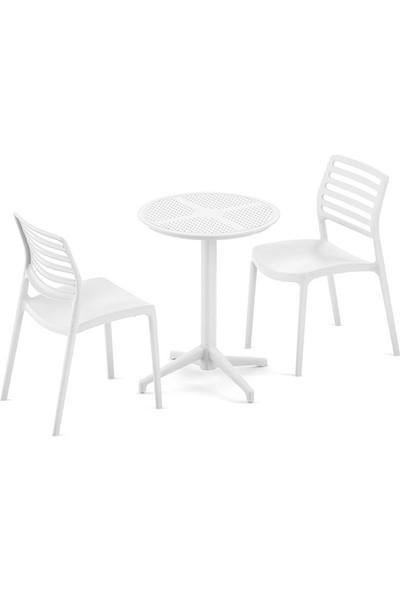 Bintaş Mobilya Yuvarlak Dış Mekan Bahçe Masa Sandalye Takımı