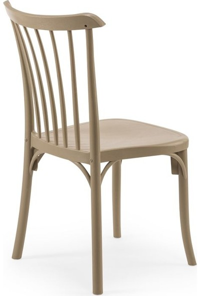 Bintaş Mobilya Yuvarlak Bej Cafe Dış Mekan Bahçe Masa Sandalye Takımı