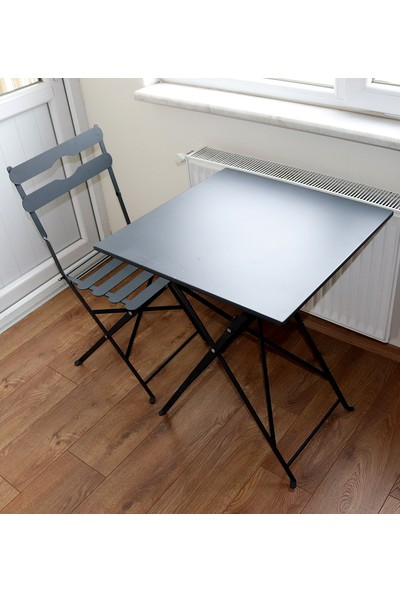 Lica Concept Metal Katlanabilir Masa 2 Adet Sandalye