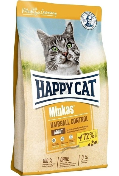 Happy Cat Minkas Hairball Tavuklu Kedi Maması 1.5 kg