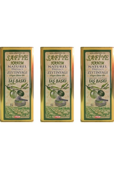 Safiye Hanım 5+5+5 Naturel Birinci Zeytinyağı 3'lü Paket