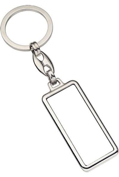 Bi Tıkla Gelsin Kişiye Isme Özel Krom Plaka Anahtarlık Gümüş