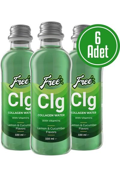 Free Collagen Water 330 ml 6 Adet