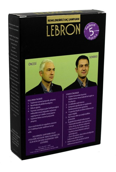 Lebron Renklendirici Saç Şampuanı 1.0 Siyah 4X25 100 ml