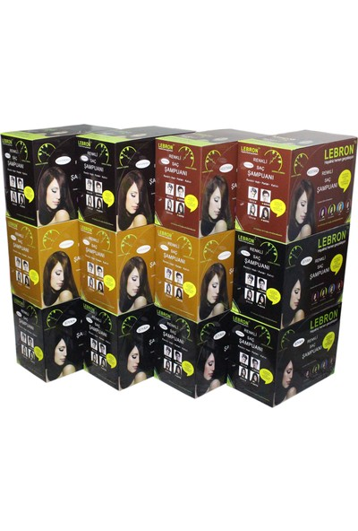 Lebron Renklendirici Saç Şampuanı 360 Adet x 25 9000 ml Karma Koli