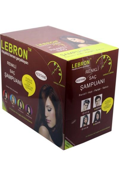 Lebron Renklendirici Saç Şampuanı 8.0 Kestane Açık Kumral 30 x 25 750 ml