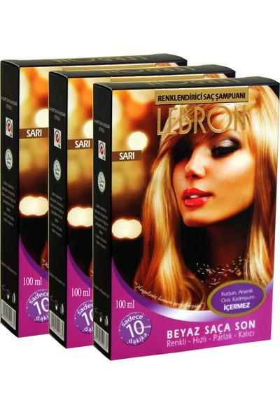 Lebron Renklendirici Saç Şampuanı 9.0 Altın Sarı 12X25 300 ml