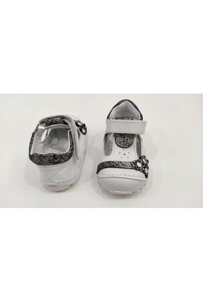 Teo Bebe İlkadım Deri Kız Bebek Ayakkabısı