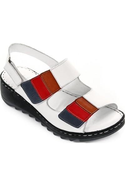 Gön Deri Kadın Sandalet 45113