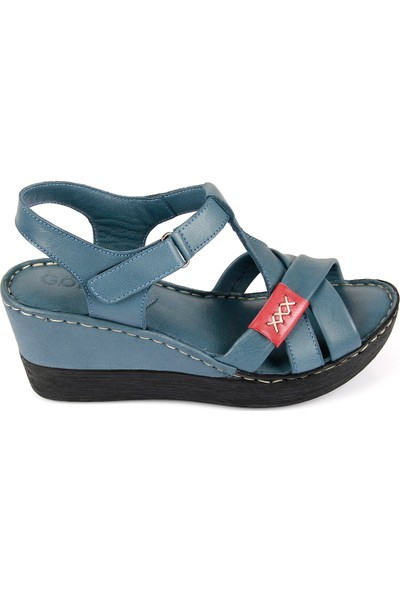 Gön Deri Kadın Sandalet 45254