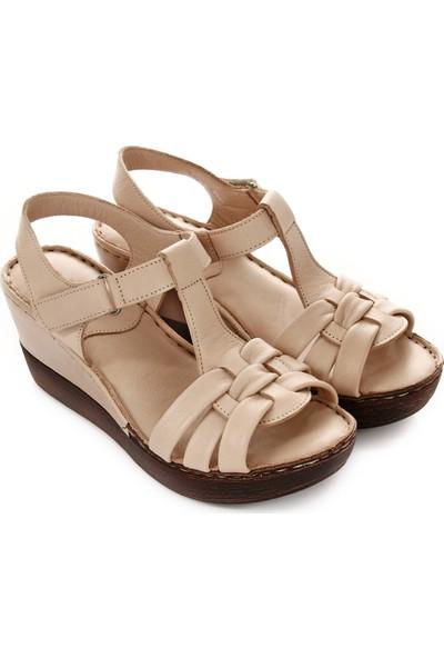 Gön Deri Kadın Sandalet 45255