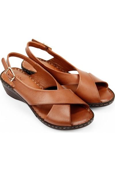 Gön Deri Kadın Sandalet 45425