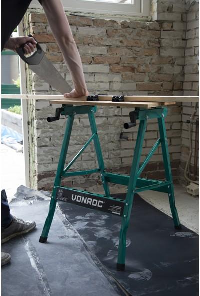 VONROC Bambu Tezgâh - 150 Kg'a Kadar Katlanabilir ve Yüklenebilir