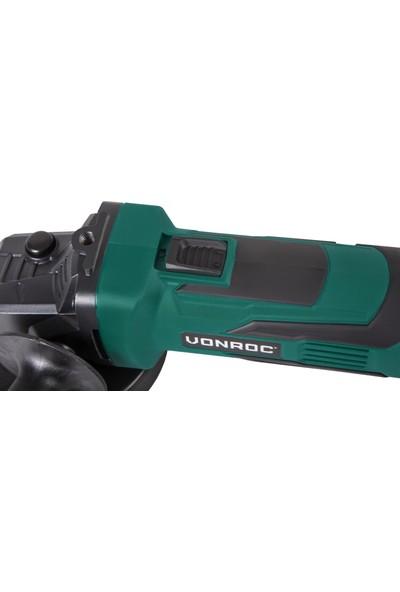 VONROC Vpower 20V Akülü Avuç Taşlama - 115mm - 4.0 Ah Pil