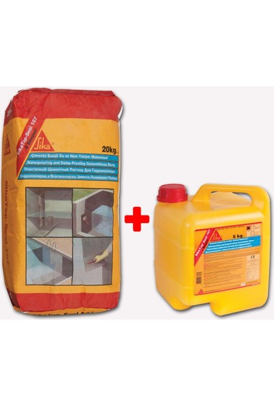 Sikatop-Seal 107 Çimento Esaslı Su ve Nem Yalıtım Malzemesi 20+5