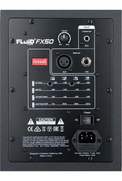 """Fluid Audio FX50 5"""" Aktif Stüdyo Monitörü (Tek)"""
