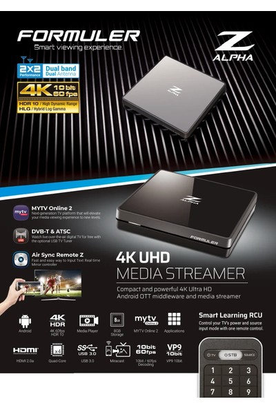 Formuler Z Alpha Android 4K Tv Box