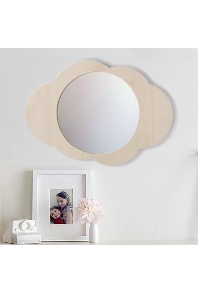 Minik Ayı Bulut Ayna Doğal Ahşap