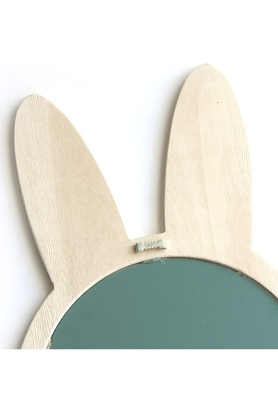 Minik Ayı Tavşan Ayna Doğal Ahşap