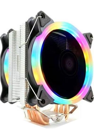 Snowman T6 Ultra 6 Bakır Kanallı Rainbow Cooler Fan