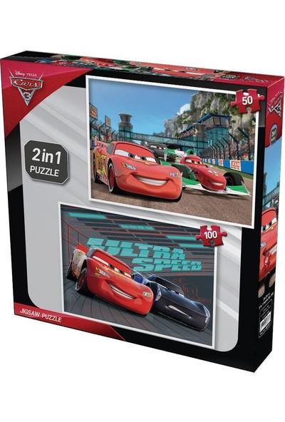 Disney Pixar Cars 3 Çocuk Puzzle 2 In 1 - 150 Parça