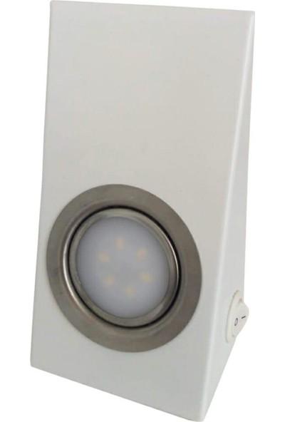 Yiğitled Dolap Altı Konik LED Spot Beyaz Kasa Beyaz Işık 5 W