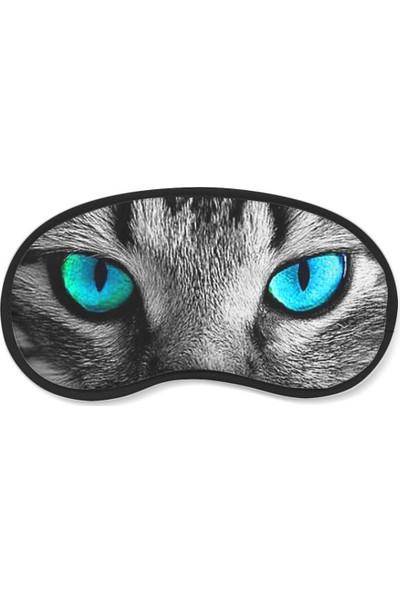 Wuw Mavi Kedi Gözü Uyku Göz Bandı