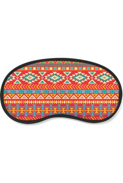 Wuw Aztek Desenli Uyku Göz Bandı