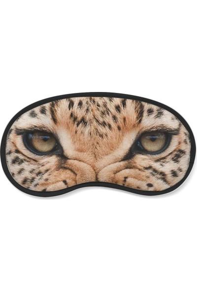 Wuw Leopar Gözü Uyku Göz Bandı