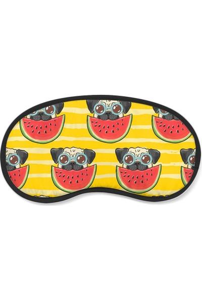 Wuw Karpuz Seven Pug Köpek Uyku Göz Bandı