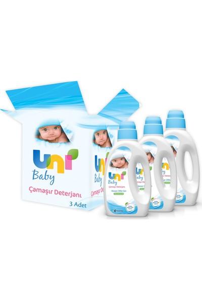 Uni Baby Çamaşır Deterjanı 1.800 ml 3'lü Mega Fırsat Paketi