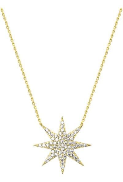 Melis Gold Altın Altın Kuzey Şimal Yıldız Kolye
