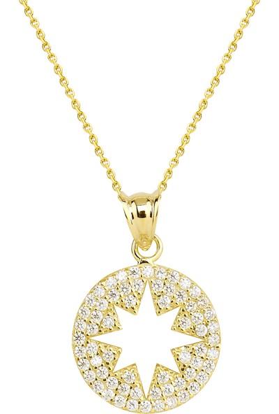 Melis Gold Altın Kuzey Şimal Yıldız Kolye