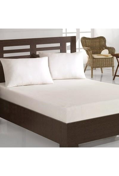 Weekend Home King Size Çift Kişilik Lastikli Çarşaf + 2 Adet Yastık Kılıfı Beyaz 200 x 200 cm