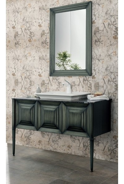 Lineart Retro 130 cm Banyo Dolabı Yeşil