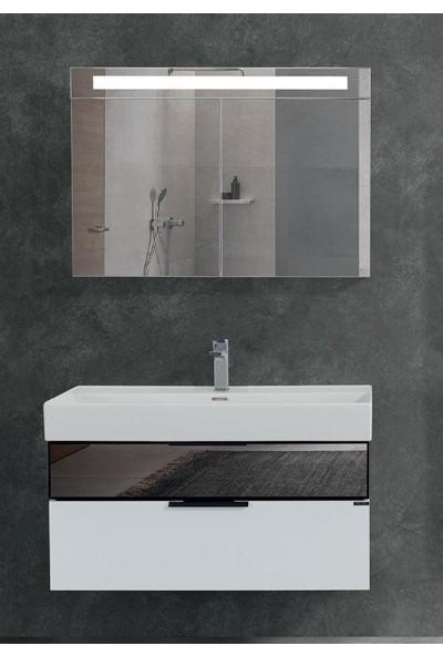 Lineart Sharp 100 cm Banyo Dolabı Beyaz