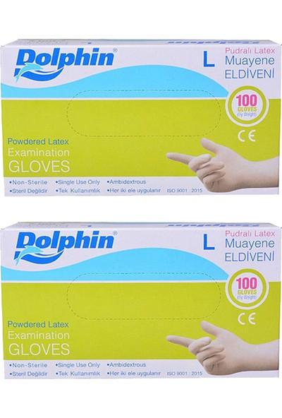 Dolphin Pudralı Eldiven L 100'LÜ 2'li