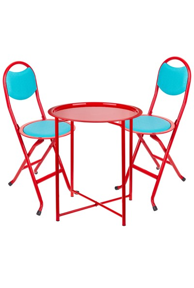 Katlanabilir Masa Takımı(Masa+2 Adet Sandalye)